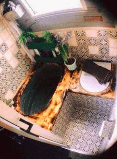 Eclectic Skoolie Bathroom