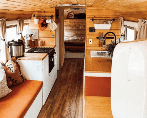 Cozy Cabin School Bus Converson