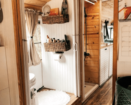 Cozy Cabin School Bus Tiny House