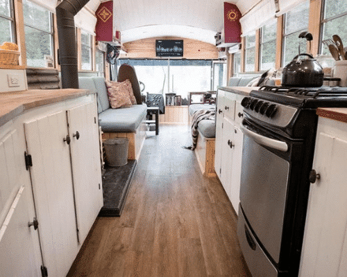 Family of 4 School Bus Tiny House