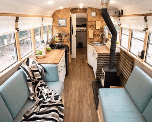 Family of 4 Tiny House School Bus