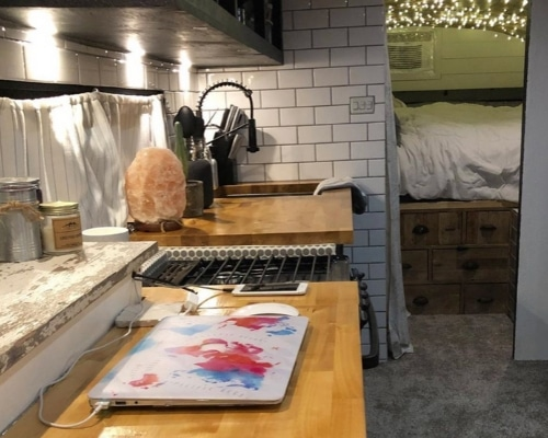 Skoolie Kitchen Design Idea