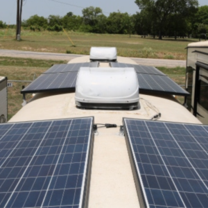 skoolie rv roof-top air conditioner install